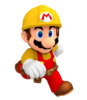 Builder mario render super mario maker by nintega dario-dbsxped
