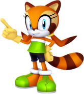 Sonic and friends marine the raccoon