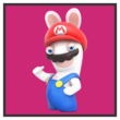 JSSB character preview icon - Rabbid Mario