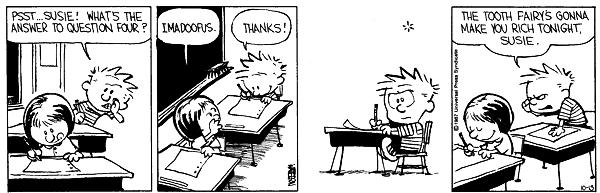 Calvin and Susie -- IMADOOFUS