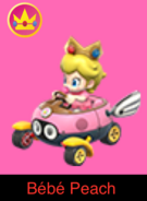 Baby Peach in Mario Kart Ultime