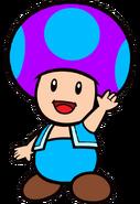 2D Ice Purple Toad