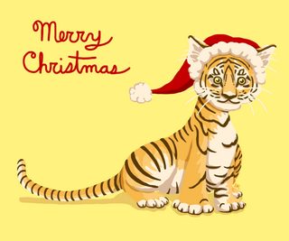 Merry tiger christmas by ritabuuk-d5oy73t
