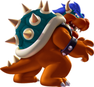 Blue Bowser backwards