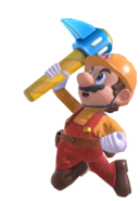 Builder Mario with Super Pickaxe