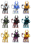 Mega Houndoom Recolours