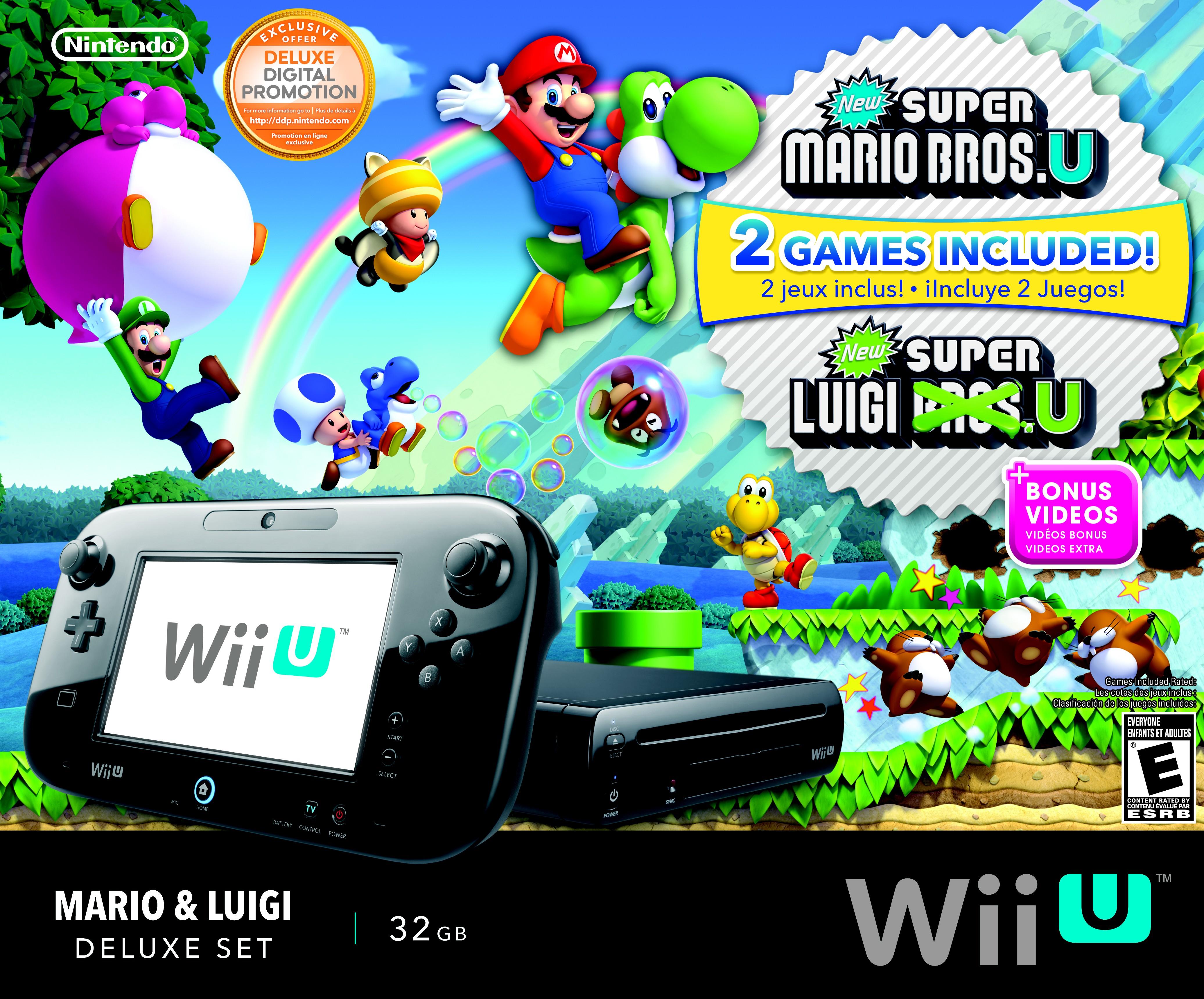 Image Wii U Mario Luigi Deluxe Set Box Art Front Jpg Fantendo
