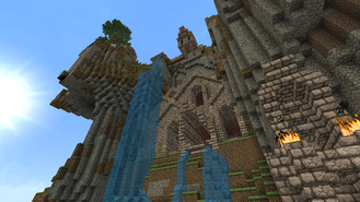 Minecraft mountain base south 1 by homunculus84-d6l3ti2