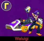 Waluigi in Mario Kart Ultime