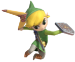 1.6.Toon Link preparing to throw his Boomerang