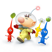 Captain Olimar and Pikmin - Super Smash Bros. for Nintendo 3DS and Wii Uthing