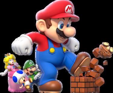 Mega Mario Group Artwork - Super Mario 3D World