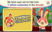 Anintendo badge arcade million customers message
