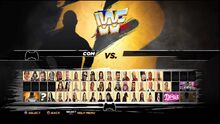 WWE '12 Old School edition roster select