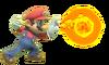 13.Mario shooting a fireball