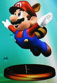 Raccoon Mario trophy