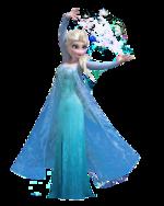Elsa render making snow