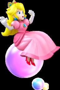 Princess Peach Bubble Artwork - Mario Party Island Tour