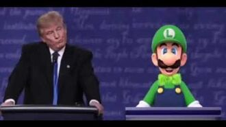 Luigi gives his presidential debate speech