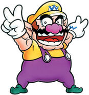 Wario Victory Pose on Wario Land 4