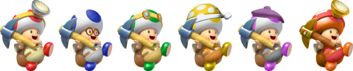 SSBRiot CaptainToad Color Palettes