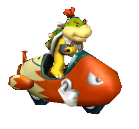 Bowser jr bullet bike by belleysr-d5ay0us
