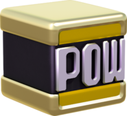 Golden POW Block Artwork - Super Mario 3D World