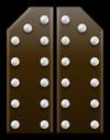 Chocalte fortress door