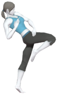 0.7.Female Wii Fit Trainer performing a Standing Knee