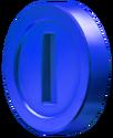 Blue Coin Art