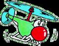 Helicopter Yoshi - SMW2