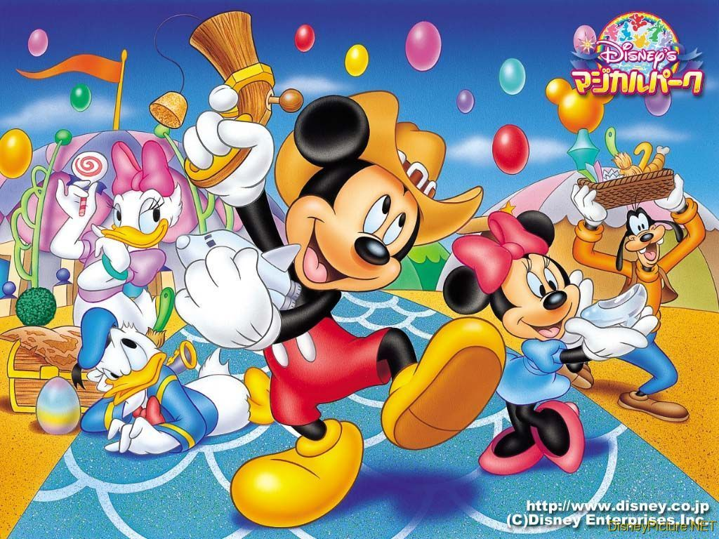 Mickey Mouse And Friends Wallpaper Disney 6603915 1024 768
