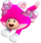 Cat Toadette Artwork - Super Mario Crystalline World