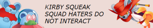 Squeak squad haters do not interact