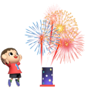 0.3.Red Villager looking at Fireworks