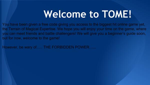 TBOA Welcome to TOME