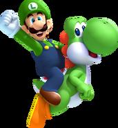 553px-Luigi and Yoshi Artwork - New Super Luigi U