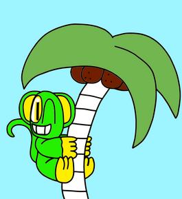 Blatly Up a Palm Tree