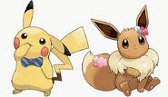 Pikachu eevee costume1