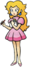 Artwork of Princess Peach, from Mario Golf on the Nintendo 64