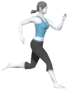 0.2.Female Wii Fit Trainer Running