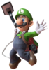 9.Luigi jumping with the poltergust