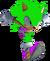 Travix Man as a hedgehog