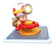 Captain Toad Spinning A Wheel