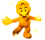 Sparkly Golden Mario Smiling