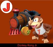 Donkey Kong Jr. in Mario Kart 9