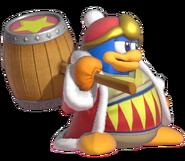 1.2.King Dedede with his hammer on his shoulder