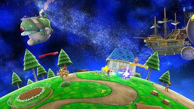SSB5 Mario Galaxy