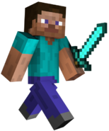 Diamond Sword Steve