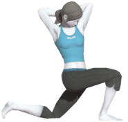 0.8.Female Wii Fit Trainer performing a Lunge